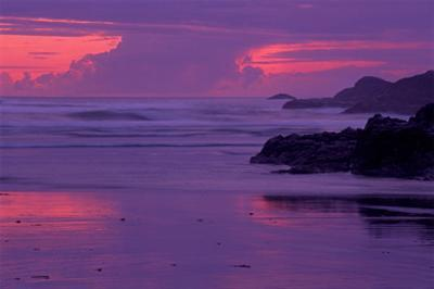 Long Beach Sunset by Mike Grandmaison