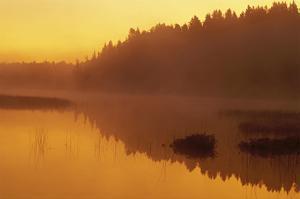 Vermillion River Sunrise by Mike Grandmaison