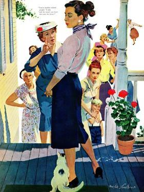 "Strangers in Town, 2 - Saturday Evening Post ""Leading Ladies"", May 30, 1959 pg.19 by Mike Ludlow"