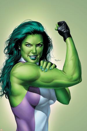 She-Hulk No.9 Cover: She-Hulk by Mike Mayhew