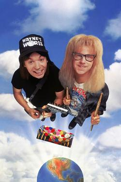"MIKE MYERS; DANA CARVEY. ""Wayne's World"" [1992], directed by PENELOPE SPHEERIS."