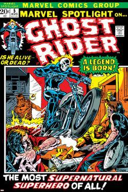Marvel Spotlight Ghost Rider No.5 Cover: Ghost Rider by Mike Ploog