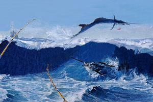 Sailfish are Everywhere During the Legendary Masters Tournament Off Palm Beach in January by Mike Rivken