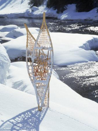 Snowshoes in Snow by River, Alaska