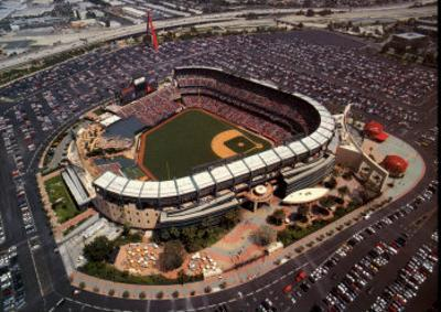Anaheim: Edison Field, Angels Baseball, California by Mike Smith