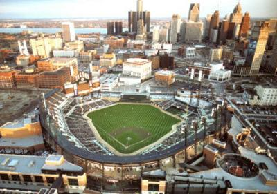 Detroit - First Night Game at Comerica Park by Mike Smith