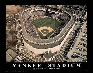 New York Yankees Old Yankee Stadium Opening Day April 7, c.1992 Sports by Mike Smith