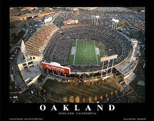 Oakland Raiders Oakland Coliseum Sports by Mike Smith