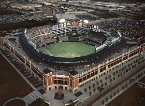 Texas Rangers First Night Game April 13, c.1994 Sports by Mike Smith