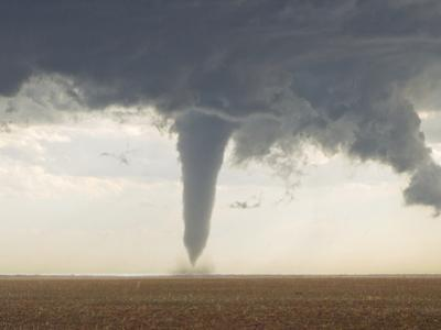 A Classic Spring Tornado Developed from a Supercell Thunderstorm by Mike Theiss