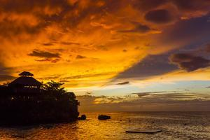 A Fiery Sky During a Dramatic Sunset in Ocho Rios, Jamaica by Mike Theiss