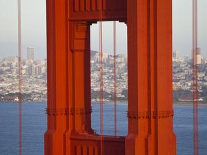 A Partial View of the Golden Gate Bridge by Mike Theiss