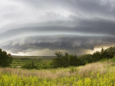 A Shelf Cloud from a Supercell Thunderstorm in Tornado Alley by Mike Theiss