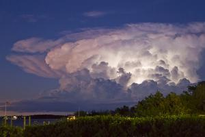 A Supercell Anvil Cloud Filled with Discharging Electricity by Mike Theiss