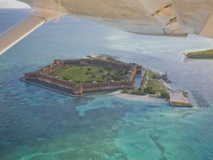 Aerial of Fort Jeffereson, at Dry Tortugas Off the Coast of Key West by Mike Theiss