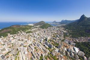 Aerial View of Christ the Redeemer Statue Overlooking the City of Rio De Janeiro, Brazil by Mike Theiss