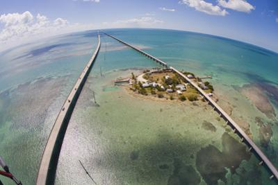 Aerial View of the Seven Mile Bridge Near Marathon Island in the Florida Keys by Mike Theiss