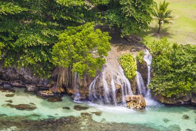An Aerial View of Waterfalls in Ocho Rios, on the North Coast of Jamaica by Mike Theiss