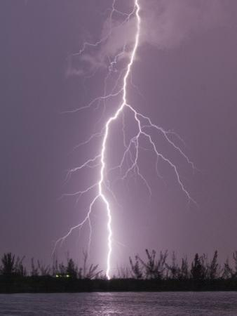 Cloud-To-Ground Lightning Strike During Intense Summer Thunderstorm, Homestead, Florida by Mike Theiss