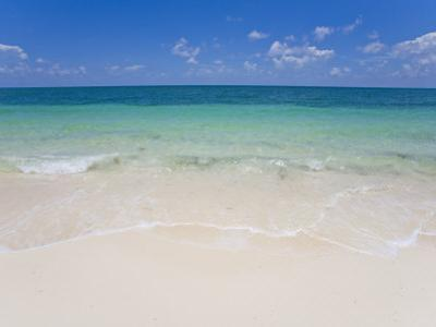 Crystal Clear Water and Blue Skies at a Beach in the Bahamas by Mike Theiss