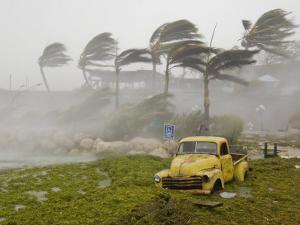 Extreme Winds and Seaweed-Filled Storm Surge During Hurricane Dennis by Mike Theiss