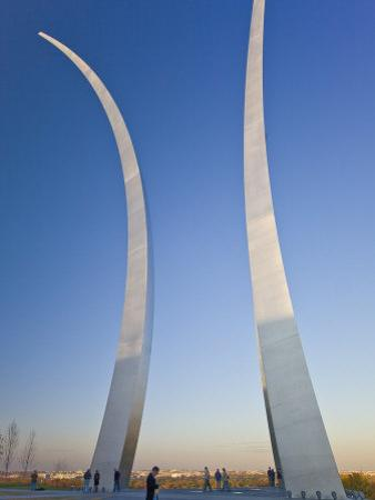 Part of the Air Force Memorial, and Tourists by Mike Theiss