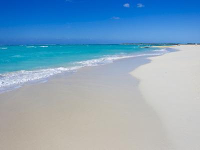 Perfect Paradise White Sand Beaches and the Blue Caribbean Sea by Mike Theiss