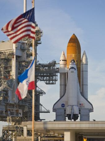 Space Shuttle Atlantis Sitting on Launch Pad 39B Awaiting Lift Off by Mike Theiss