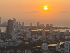 Sunset over the City of Cartagena, Colombia by Mike Theiss