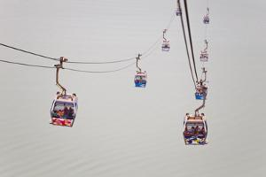 The Ngong Ping Cable Car, or Skyrail, That Goes to Lantau Island by Mike Theiss