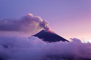 The Tungurahua Volcano Erupting at Twilight by Mike Theiss