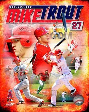 Mike Trout 2012 Portrait Plus