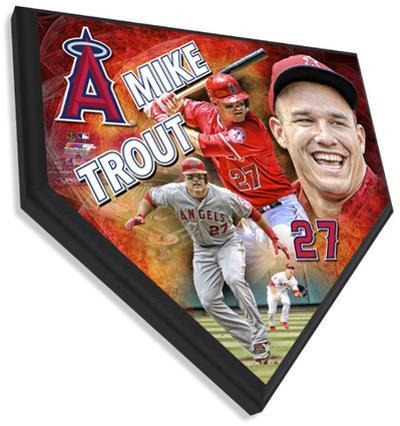 Mike Trout Home Plate Plaque