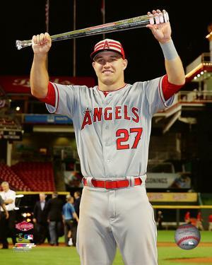 Mike Trout with the MVP Trophy 2015 MLB All-Star Game