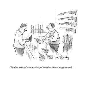 """""""For those awkward moments when you're caught without a snappy comeback."""" - Cartoon by Mike Twohy"""