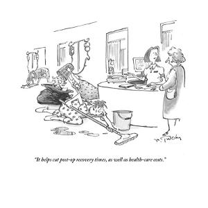 """""""It helps cut post-op recovery times, as well as health-care costs."""" - Cartoon by Mike Twohy"""