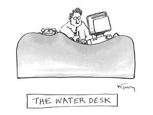 The Water Desk - New Yorker Cartoon by Mike Twohy