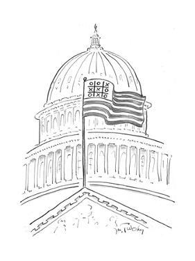 Tic Tac Toe at the Capitol Building - Cartoon by Mike Twohy