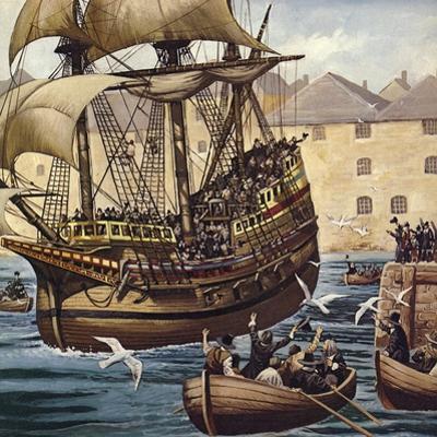 Westward Ho! the Mayflower Leaves Plymouth Ho on 16 September 1620