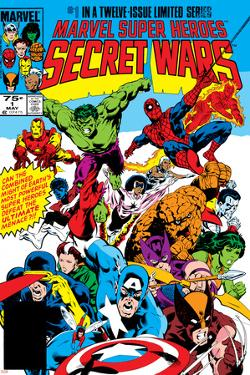 Secret Wars No.1 Cover: Captain America by Mike Zeck
