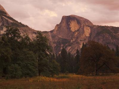 Half Dome Mountain at Dusk