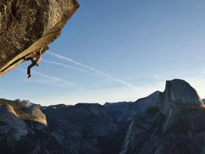 Without a Rope, a Climber Scales a Route on Glacier Point Called Heaven by Mikey Schaefer