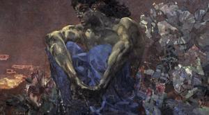Demon Seated by Mikhail Aleksandrovich Vrubel