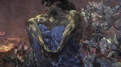 Demon Seated by Mikhail Aleksandrovich Vrubel
