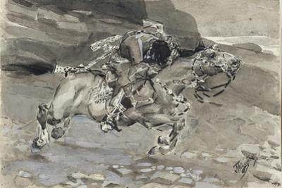 Horseman, 1890-1891 by Mikhail Alexandrovich Vrubel