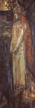 Singer Nadezhda Zabela-Vrubel as Princess Volkhova in the Opera Sadko by N. Rimsky-Korsakov, 1898 by Mikhail Alexandrovich Vrubel