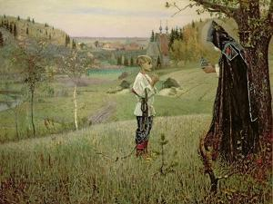 The Vision of the Young Bartholomew, 1889-90 by Mikhail Vasilievich Nesterov