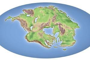 Continental Drift After 250 Million Years by Mikkel Juul
