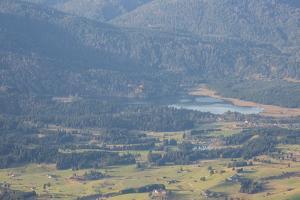 Europe, Germany, Bavaria, Alps, Mountains, Mittenwald, Buckelwiesen, View from Karwendel by Mikolaj Gospodarek