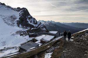 Europe, Germany, Bavaria, Alps, Mountains, Mittenwald, Karwendelbahn - The cable car station by Mikolaj Gospodarek